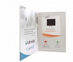 Custom design 2.8 inch video brochure