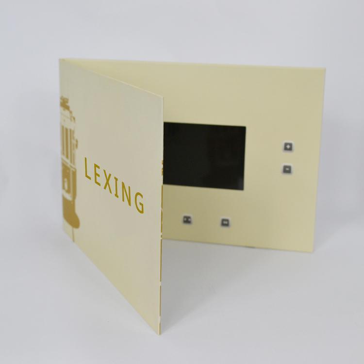 Wholesale custom printing LCD Screen cartoon 4.3 inch video business brochure 4