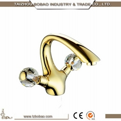 High Quality Brass Decorative Rose Gold Water Tap with Long Neck