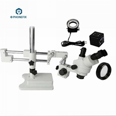 Phone Fix 7-45X Trinocular Stereo Zoom Microscope With VGA Camera