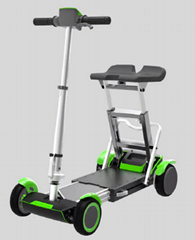 Folding Scooter, Portable Electric Travel Scooter, 4 Wheeled Mobility Scooter