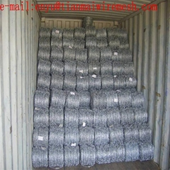 12*12 Galvanized fence barbed wire mesh hot sale