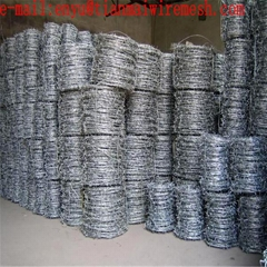 galvanized double twist barbed wire for protecting mesh