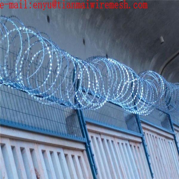 ga  anzied razor wire prson fencing  prison wire fence