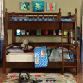 2018 new American double solid wood children's bed  4