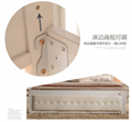 Modern  white solid wood  double bed 5