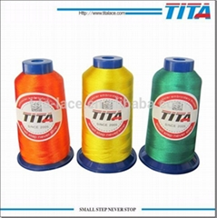 High strength 120d/2 polyester embroidery thread with trilobal bright