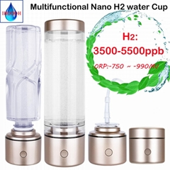 Portable Nano High concentration hydrogen generator water bottle