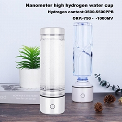 SPE High Hydrogen rich Nanometre water bottle ORP -800mv H2 Ionizer h2 generator