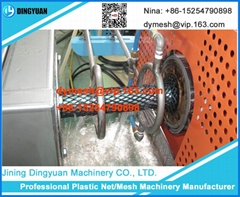 Plastic net pipe machine