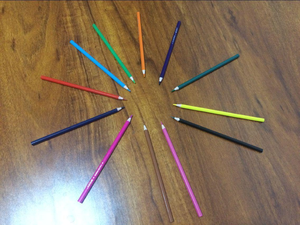 Wooden-Free Plastic 12 Color 7 Inch Pencil 4