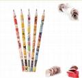 Hot  Sale 12pcs color pencil in paper