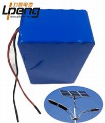 12V40AH太阳能路灯用锂电池组