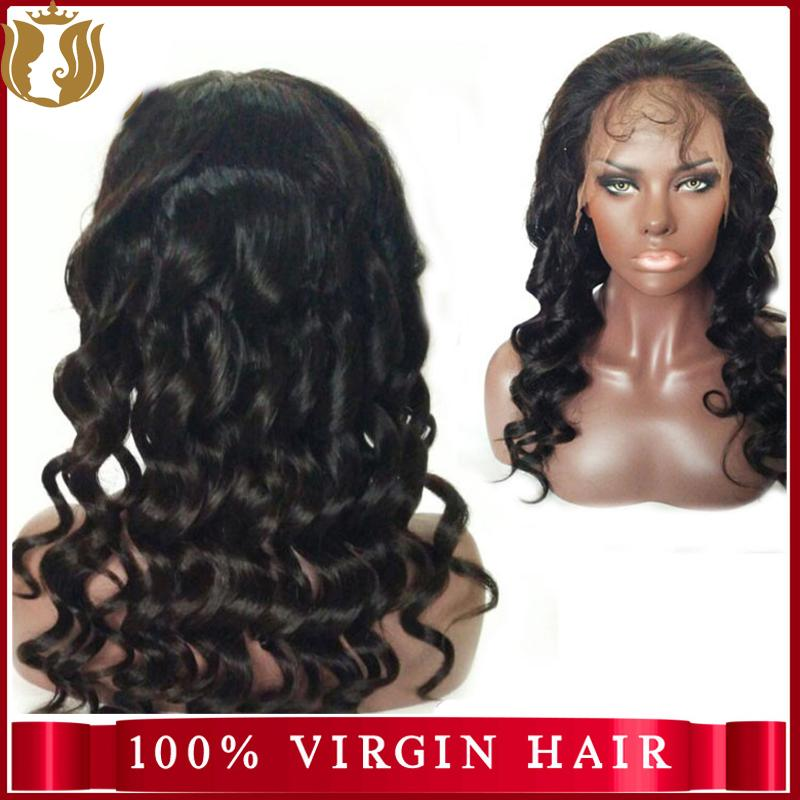 100% Human Hair Deep Wave Full Lace Wig 1