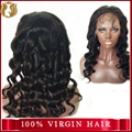 100% Human Hair Deep Wave Full Lace Wig