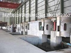 海山1吨铝壳中频电炉