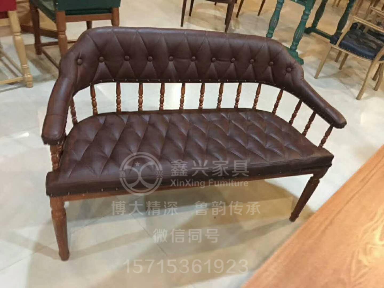 酒店实木餐椅卡座沙发餐厅 4