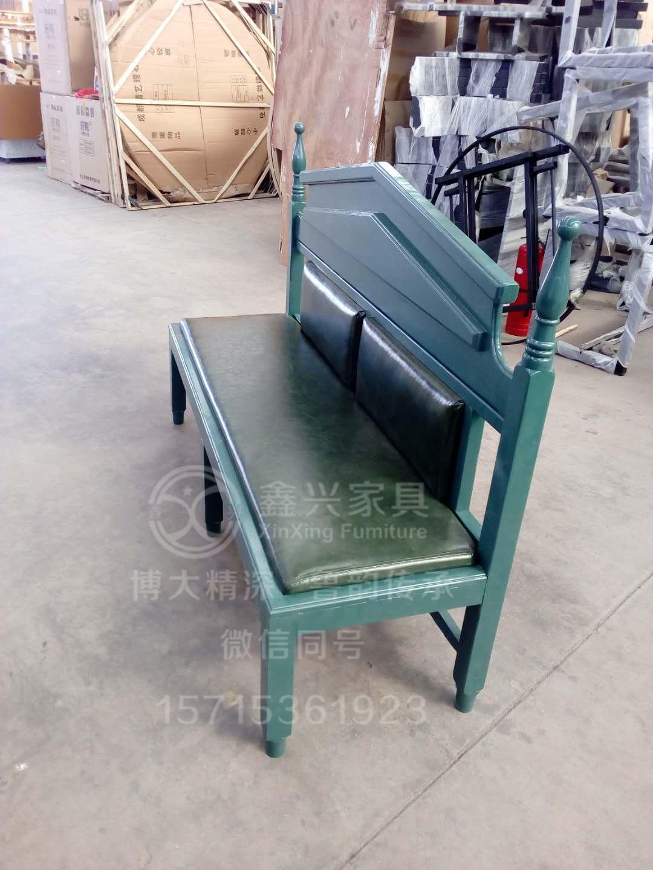 酒店实木餐椅卡座沙发餐厅 5