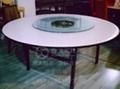宴会圆桌婚宴桌会议桌PVC白色