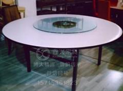 宴會圓桌婚宴桌會議桌PVC白色大圓桌