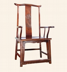 實木椅子太師椅高背椅單人圈椅官帽新中式椅復古榆木茶椅禪意書椅