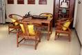 榆木桌椅功夫茶桌实木沙发6件套 2