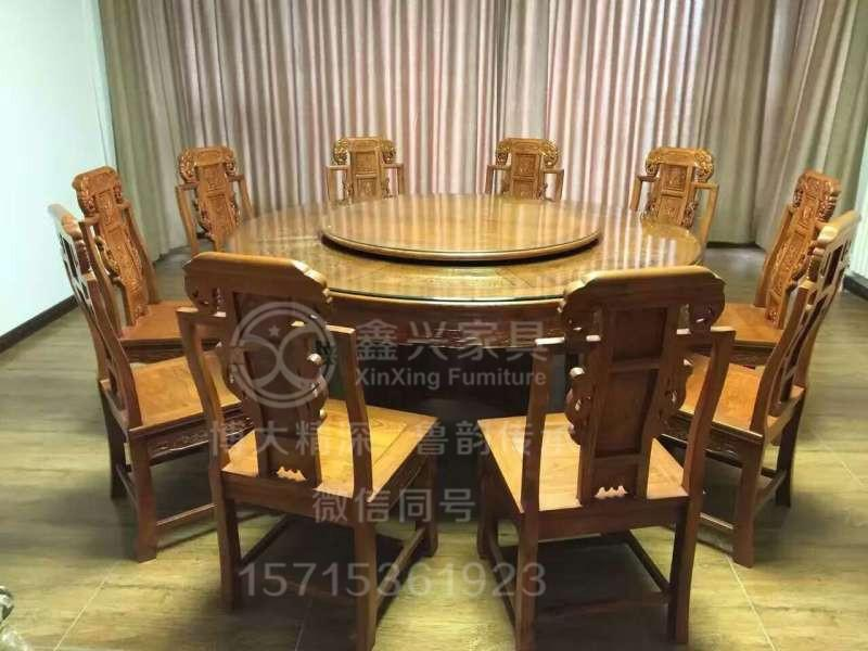 榆木桌椅功夫茶桌实木沙发6件套 3