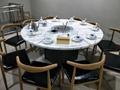 火锅桌椅高档理石火锅桌隐形电磁炉玻璃面无烟设备 3