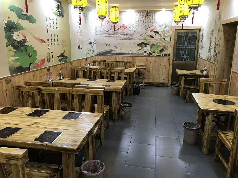 火锅桌椅高档理石火锅桌隐形电磁炉玻璃面无烟设备 4