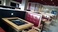 火锅桌椅高档理石火锅桌隐形电磁炉玻璃面无烟设备 5