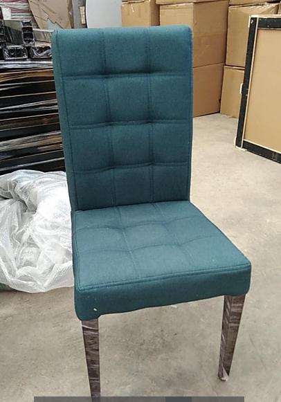 金属软包椅高档仿实木椅餐厅椅子皮椅子 2