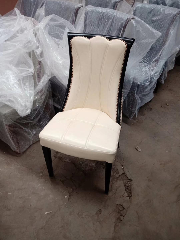 金属软包椅高档仿实木椅餐厅椅子皮椅子 3