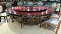 酒店电动餐桌椅高档实木雕刻大圆桌 2