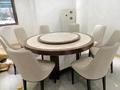 酒店电动餐桌椅高档实木雕刻大圆桌 3