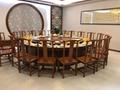 酒店电动餐桌椅高档实木雕刻大圆桌 4