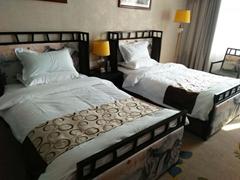 酒店賓館傢具標間全套簡約現代快捷酒店公寓客房床定製