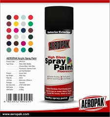 AEROPAK High Quality High Gloss Spray Paint ,MSDS Aerosol Paint