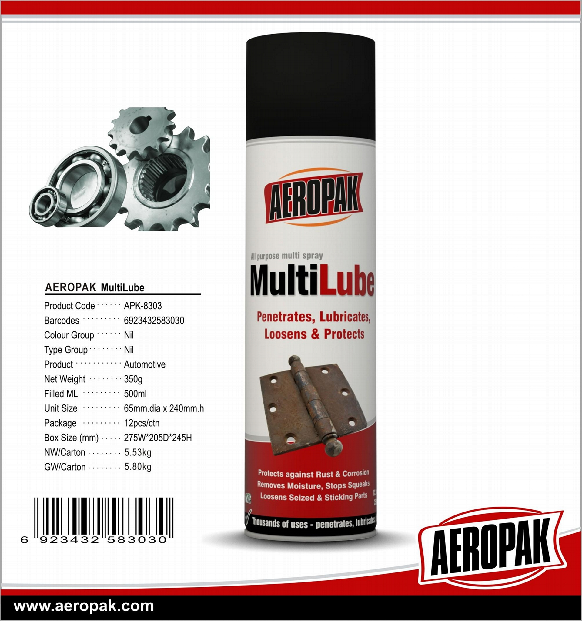 AEROPAK High Quality MultiLube 1