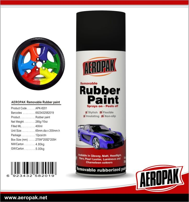 AEROPAK Hot Sale Removable Rubber Panit For Cars 1