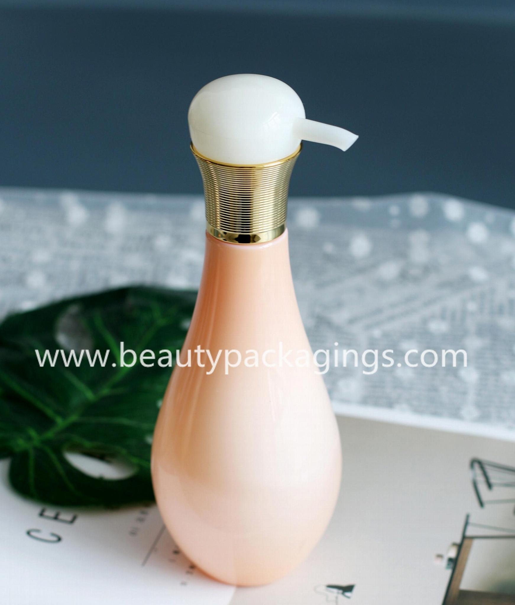 500ml Shinny Bulb Shape Plastic Shampoo Shower Gel Bottle 1