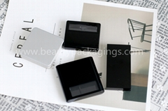 China Supplier Empty Eyebrow Powder Case With Brush And Mirror