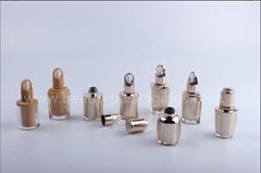 Unique Acrylic Essence Serum Dropper Bottle With Wood Shoulder Cover