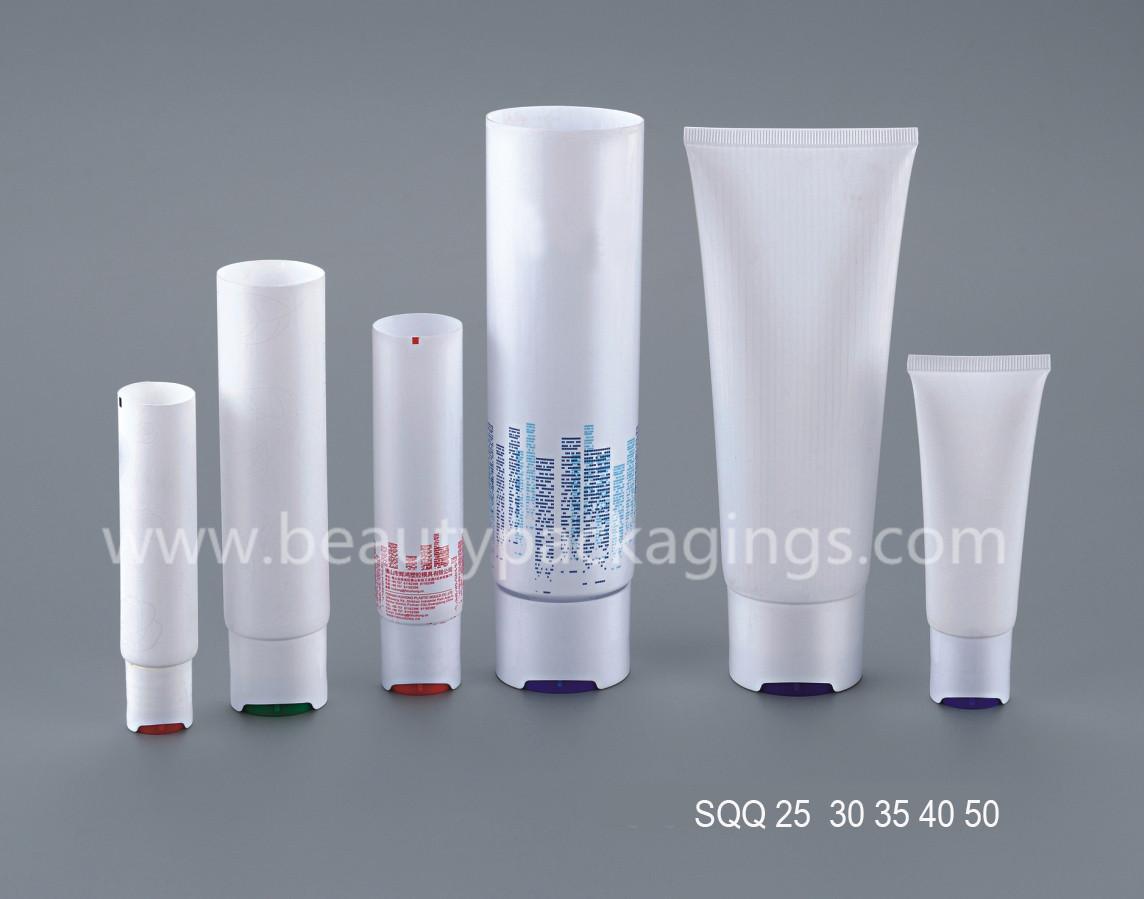 Custom Logo White BB Cream Cosmetic Tube With Black Screw Cap 4