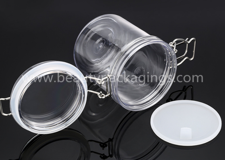 Empty Airtight Plastic PET Clip Facial Mud Mask 1