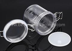 Empty Airtight Plastic PET Clip Facial Mud Mask