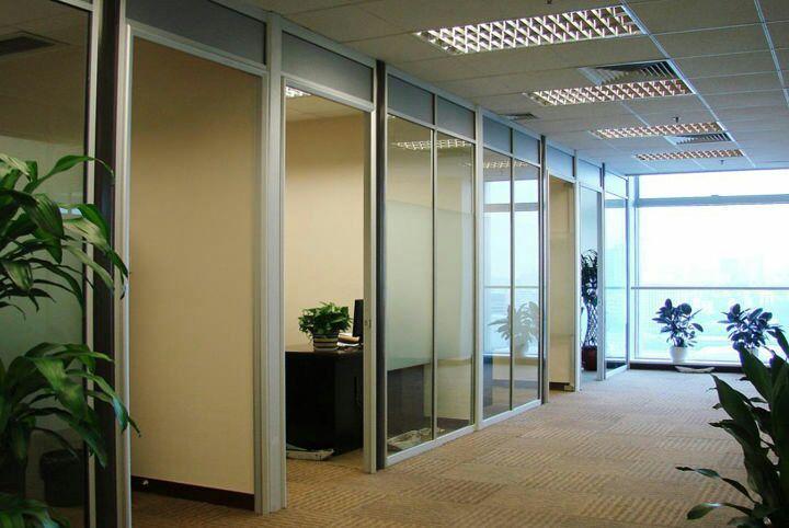 铝合金玻璃隔断 2