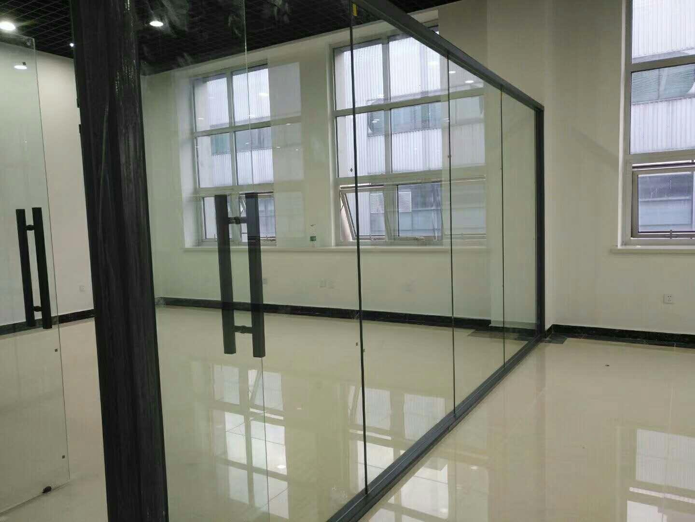 磨砂钢化玻璃隔断 1