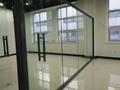 磨砂钢化玻璃隔断
