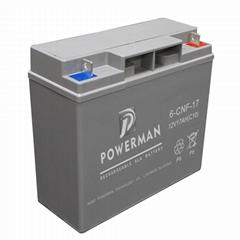 Powerman 12V 17Ah Lead Acid UPS Solar maintenance free storage battery