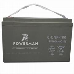 Powerman 12V 100Ah Lead Acid UPS Solar maintenance free storage battery